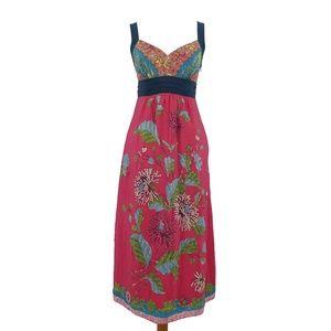 Anthro Edme Esyllte Silk Floral Maxi Dress  (J4)